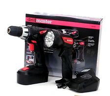 Drillmaster 18 Volt Cordless Drill Flashlight Combo Kit w/ Battery & Charger NEW