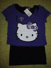 Mädchen H&M Hello Kitty Katze Long Shirt Glitzer kurzarm Gr. 158/164 170 NEU
