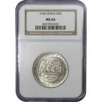 1946 Iowa Centennial Commemorative Half Dollar MS 66 NGC 90% Silver 50c US Coin