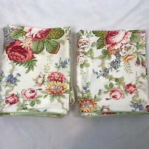 Ralph Lauren Chaps Constance Garden Multi Floral King Pillow Shams Pair