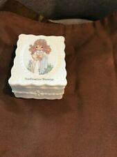 "Precious Moments Confirmation Blessings Porcelain Trinket Box 3.25"" x 2.75"""