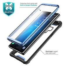 Samsung Galaxy Note 9 Case Impact Protection Clear Bumper Screen Protector Blue