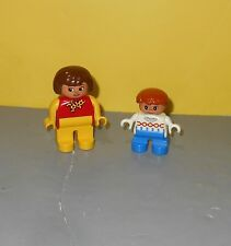 LEGO Duplo Figure Family of Two Mom & Daughter Figures w/ Freckles