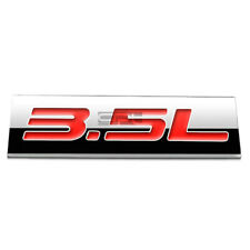 BUMPER STICKER METAL EMBLEM DECAL TRIM BADGE POLISHED CHROME RED 3.5L 3.5 L
