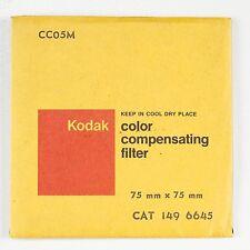 "KODAK 05M MAGENTA Colour Correction 7.5 cm 3"" Square Gel Filter NEW Old Stock"