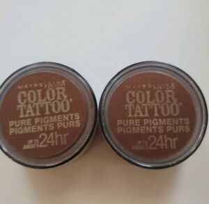 Maybelline Color Tattoo Pure Pigments Eye Shadow 24Hr Improper Copper 40 Lot 2