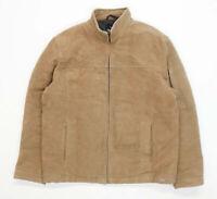 Next Mens Size M Cotton Blend Brown Zip Up Coat