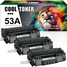 3PK Black Toner Cartridge for HP Q7553A 53A LaserJet M2727nf MFP P2015d P2015dn