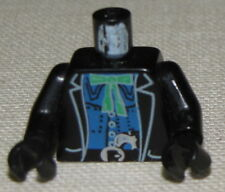 LEGO BLACK WESTERN BANDIT ROBBER MINIFIG TORSO WITH HANDCUFFS