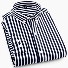 New Mens Styles Fashion Casual Classic Long Sleeves Striped Shirts WA6448