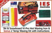 Ski & Snowboard Vitora VI Pro Hot Waxing Iron & 2 Temp Wax Kit + Guide