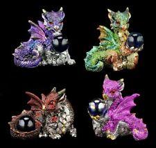 Drachen Figuren 4er Set - Der Schatz - Drachenfiguren Deko Fantasy