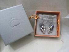 Tiffany & Co. Iridesse Multi-Colored Pearl Dangle Drop Earrings Box & Pouch