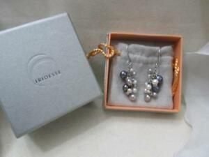 Tiffany & Co. Iridesse Multi-Colored Pearl Dangle Drop Earrings Box & Pouch