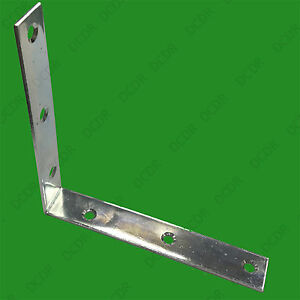 6x 150mm Corner Brace, L Brackets, Right Angle, Heavy Duty Shelf Support 90 deg