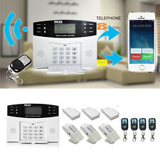 Wireless LCD GSM SMS Burglar Fire Alarm System Auto Dialer Home Security Safe @Y