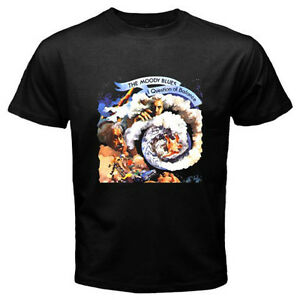 THE MOODY BLUES Logo Men's Black T-Shirt Size S M L XL 2XL 3XL