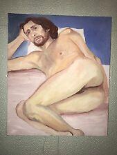NUDE MAN peinture à l'huile sur toile 61x52cm nu Act