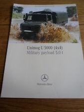 Rare MERCEDES BENZ UNIMOG U 5000 militaire camion brochure commerciale JM