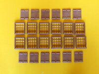 Finestre con griglie + persiane per modellismo HO - 1/87 pz.24 - Krea