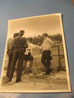 DDR Grenze mit Grenzschutz ca.1965  Original altes Pressefoto 24x18 cm-old pres