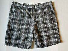 Calvin Klein Jeans Mens Black and White  Striped Shorts Sz 38