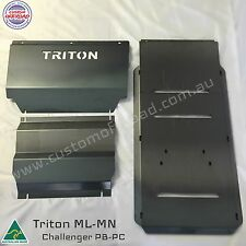 Triton Bash Plates ML-MN 3pce Front, Diff & Trans 3mm Mild Steel - Aussie Made