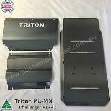 Mitsubishi Triton ML-MN 3pce Front, Diff & Trans 3mm Mild Steel Bash Plates