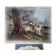 """Wolf Plate """"Spring's Beauty"""" from The Season's Magnificence Collection by Dan S"""