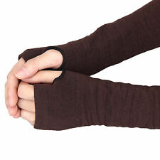 1 Pair Fashion Women Stretchy Long Sleeve Fingerless Gloves Arm Gift Ladies New