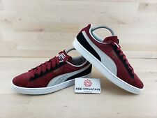 Puma Red Black White Suede Athletic Sneakers - Men's Size 9