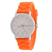 Brand New Fashion Silicone Rubber Unisex Quartz Analog Sports Wrist Watch Women