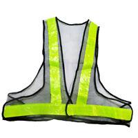 High Visibility Reflective Traffic Vest Safety Jacket Outdoor Wear -Black