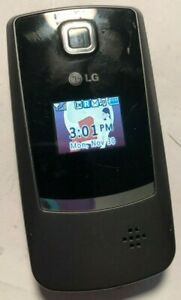 LG LG 300 (Cell Com) CDMA Gray Black Flip Fast Shipping Excellent Used