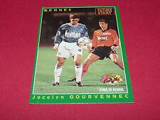 JOCELYN GOURVENNEC STADE RENNES ROAZHON ROOKIE PANINI FOOTBALL CARD 1994-1995