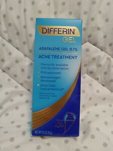 New Differin Adapalene Gel 0.1% Acne Treatment, 1.6 oz. Expires: 05/2022+.