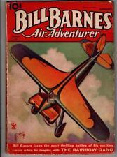 Bill Barnes Air Adventurer  Aug 1935 Aviation hero