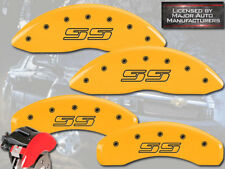 """2002-2006 Chevy Avalanche 2500 Front Rear Ylw MGP Brake Disc Caliper Covers """"SS"""""""