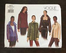 Vogue Basic Design Blazer Asian Jacket 2615 Size 14-18 Easy 2001 Uncut