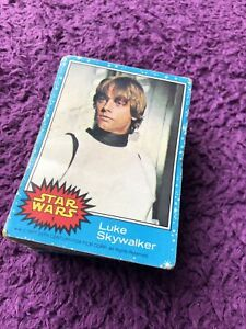 Vintage Star Wars Complete Set of UK Issue Cards 1977 - Topps Blue Series 1-66