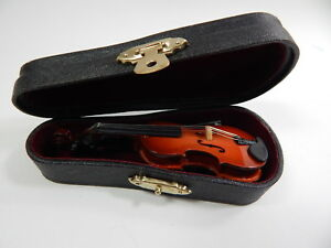 Dollhouse Miniature Music 1:12 Scale Violin Viola  w/Case #Z211L Will Not Play