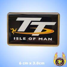 Isle of Man TT Black Gel Badge Sticker