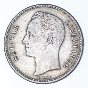 SILVER Roughly Size of Dime 1954 Venezuela 50 Centimos World Silver Coin *944