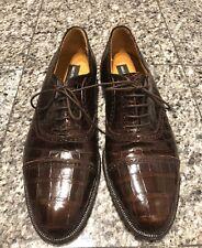 Saks Fifth Avenue Brown Alligator Men's Oxfords Shoes