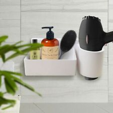Strong Hair Dryer holder | Hair Dryer Organiser with Storage Rack | No Nails
