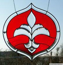 Bleiverglasung plomo ventanas de vidrio imagen facetas-lirios-medallón en Tiffany