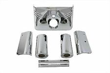 Triple Tree Cover Kit Chrome for Harley Davidson by V-Twin