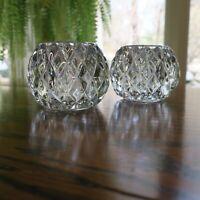 Crystal Clear Ball (2) Tea Light TeaLight Candle Holders