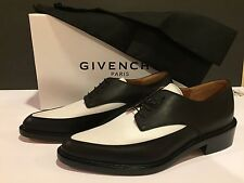 Givenchy Derby Graphic Women's Oxford Lace Up Leather Black White 40/9.5 $1195