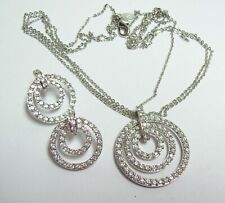 NOLAN MILLER Rhinestone Circles Necklace & Earrings